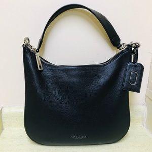 Marc Jacobs Gotham Black Pebbled Leather Hobo Bag